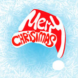 Merry christmas hat lettering Stock Photos