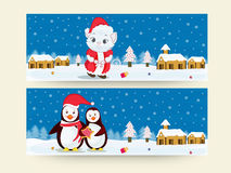 Merry Christmas header or banner. Stock Images