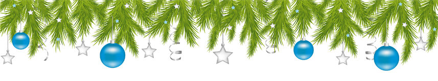 Merry Christmas Header. Vector  Royalty Free Stock Photography