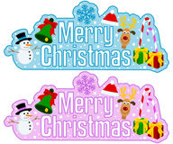 Merry Christmas Headline Royalty Free Stock Photography