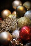 Merry Christmas! - A heap of festive baubles & decorations Royalty Free Stock Images