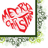Merry Christmas heart Royalty Free Stock Photography