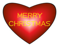 Merry Christmas on heart background. Merry Christmas made from hearts on heart background, illustration royalty free illustration