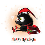 Merry Christmas hedgehog Royalty Free Stock Photos