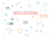 Merry Christmas. Holiday Accessories: letter to Santa Claus and Royalty Free Stock Images