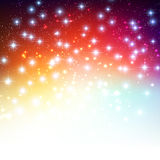 Merry Christmas Holiday background with shiny star Stock Photo