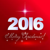 2016 Merry Christmas! Holiday background. Royalty Free Stock Photography