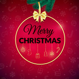 Merry Christmas . Holiday Background. Xmas Greeting Card With Bauble. Poster. Royalty Free Stock Images