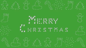 Merry Christmas, Holiday border, green stock video footage