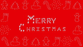 Merry Christmas, Holiday border, red stock video footage