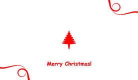 Merry christmas holiday card Royalty Free Stock Photography