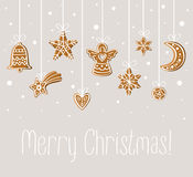 Merry Christmas holiday card Royalty Free Stock Photos