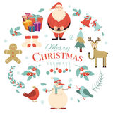 Merry Christmas holiday design elements. Xmas decorations  Royalty Free Stock Images