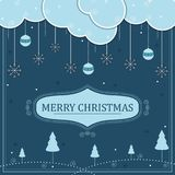 Merry Christmas holiday festival greeting background. Vector illustration of Merry Christmas holiday festival greeting background Stock Photography
