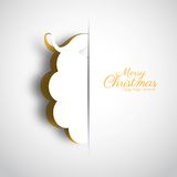 Merry Christmas holiday greeting design with papercut Santa Clau Royalty Free Stock Image