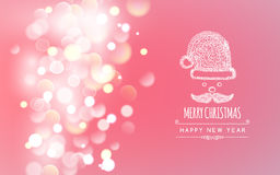 Merry Christmas holiday greeting design with Santa Royalty Free Stock Photo