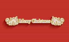 Merry Christmas holiday post card Stock Image