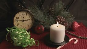 Merry Christmas Holiday Still Life stock video footage