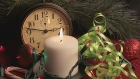 Merry Christmas Holiday Still Life stock footage
