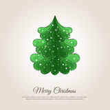 Merry Christmas Holiday Web Page Template. Christmas celebrating banner. Christmas tree in snowfall vector illustration. Merry Christmas and Happy New Year Royalty Free Stock Image