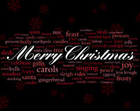 Merry christmas holiday words Stock Photography