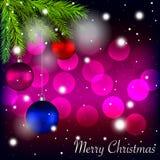 Merry Christmas holidays card Stock Photos