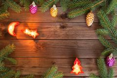 Merry Christmas / holidays decorative and place for inscriptiont. Merry Christmas / holidays decorative and place for a text Stock Photos