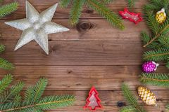 Merry Christmas / holidays decorative and place for a text Stock Photo