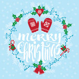Merry Christmas holidays greating card Royalty Free Stock Photo