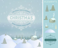 Merry Christmas holidays wish greeting card and vintage  Royalty Free Stock Photos