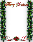 Merry Christmas Holly border Royalty Free Stock Images