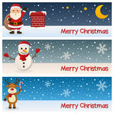 Merry Christmas Horizontal Banners Stock Image