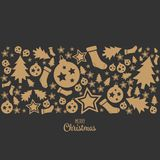 Merry Christmas icon Chrictmas design made in vector royalty free illustration