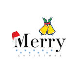 Merry christmas icon in colorful illustration vector illustration