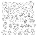 Merry Christmas icon Stock Images