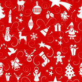 Merry Christmas icons seamless pattern. Stock Photography