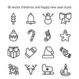 Merry Christmas icons Stock Photo
