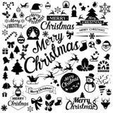 Merry Christmas  icons set Stock Photo