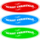 Merry Christmas icons set Royalty Free Stock Images