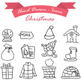 Merry Christmas icons vector illustration Royalty Free Stock Images