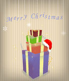 Merry Christmas illustration. Merry Christmas fnd happy new year illustration royalty free illustration