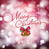 Merry Christmas. Illustration of merry christmas card with bokeh Royalty Free Stock Image