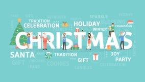 Merry Christmas illustration. stock illustration
