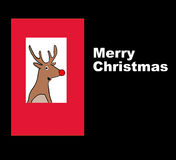 Merry Christmas. Christmas illustration of a reindeer and the words, 'Merry Christmas Stock Image