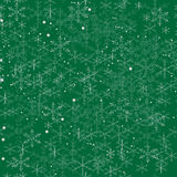 Merry Christmas illustration with snowflakes seamless background Stock Photos