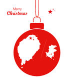Merry Christmas illustration theme with map of Sao Tome and Prin Royalty Free Stock Image