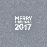 Merry Christmas illustration. Merry Christmas 2017. White snow font, holiday illustration Royalty Free Stock Images