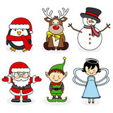 Merry Christmas illustrations set Stock Photography