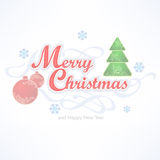 Merry Christmas inscription Royalty Free Stock Photo