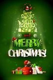 Merry Christmas inscription and Happy New Year Royalty Free Stock Photography
